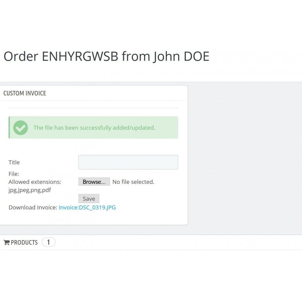 module - Boekhouding en fakturatie - Custom Order Invoice & Files - 3