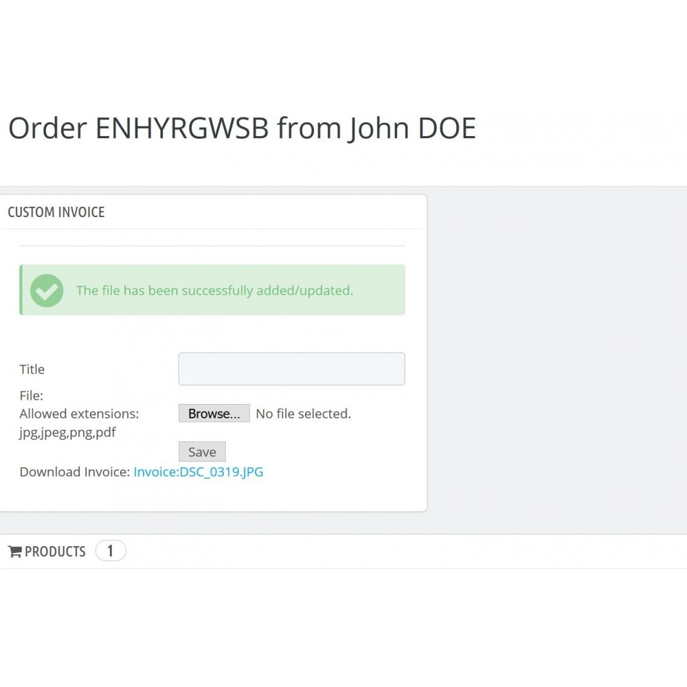 module - Comptabilité & Facturation - Custom Order Invoice - 3