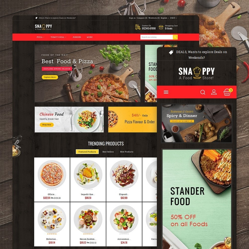 theme - Lebensmittel & Restaurants - Restaurant & Snacks Food - 1