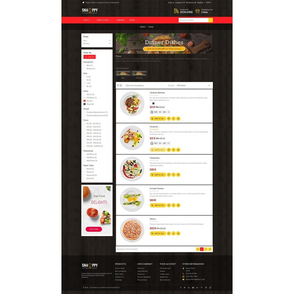 theme - Eten & Restaurant - Restaurant & Snacks Food - 4