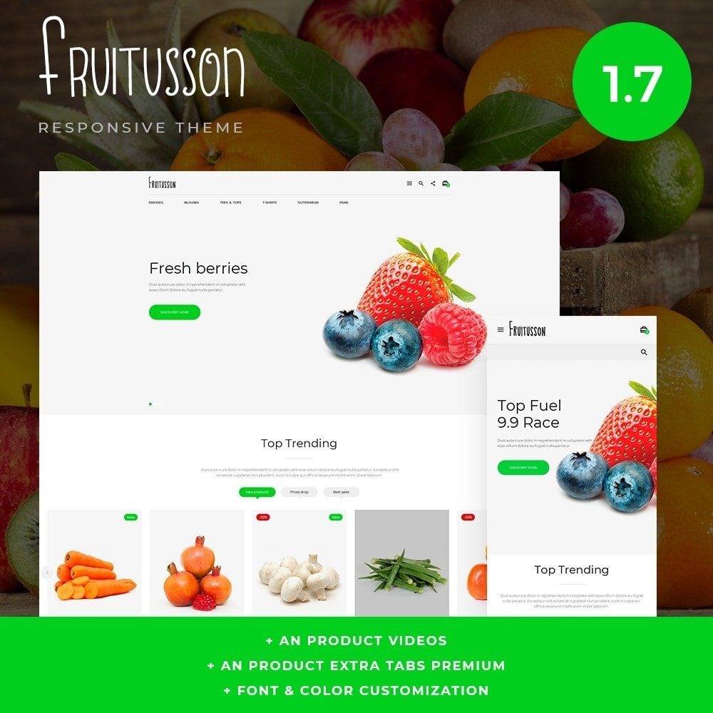 theme - Food & Restaurant - Fruitusson - 1