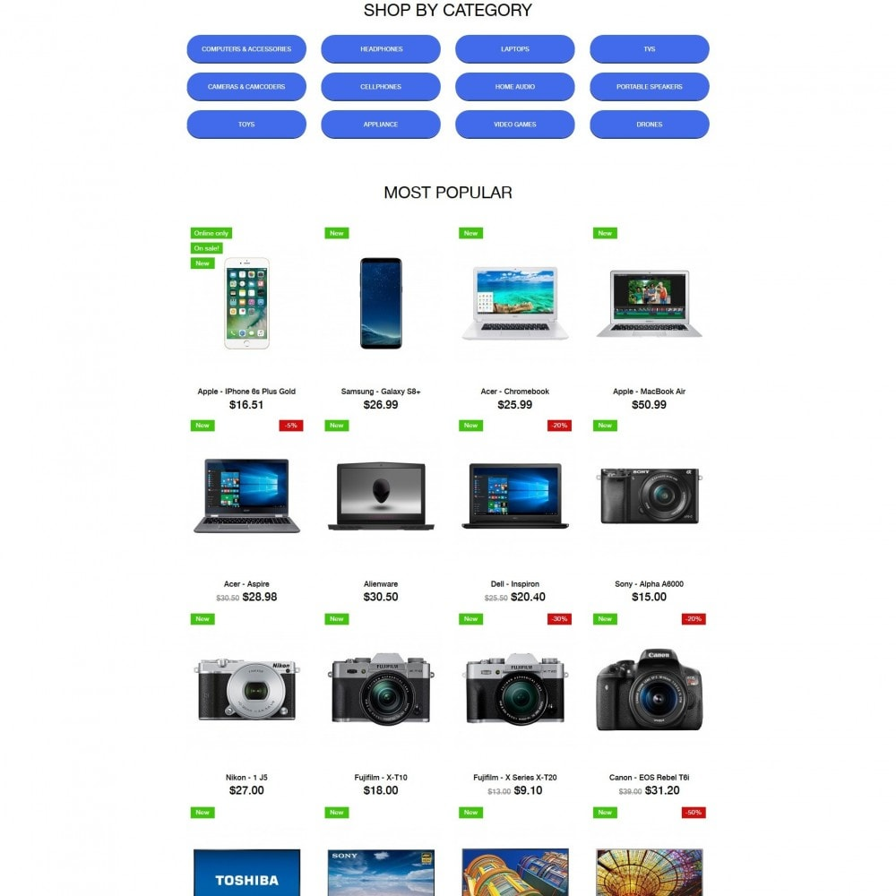 theme - Электроника и компьютеры - Nougat - High-tech Shop - 3