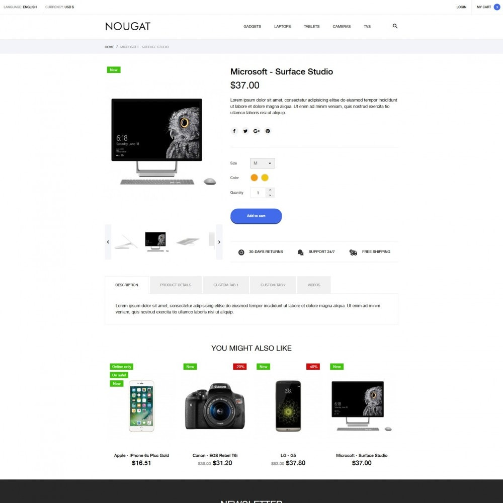 theme - Elektronica & High Tech - Nougat - High-tech Shop - 6