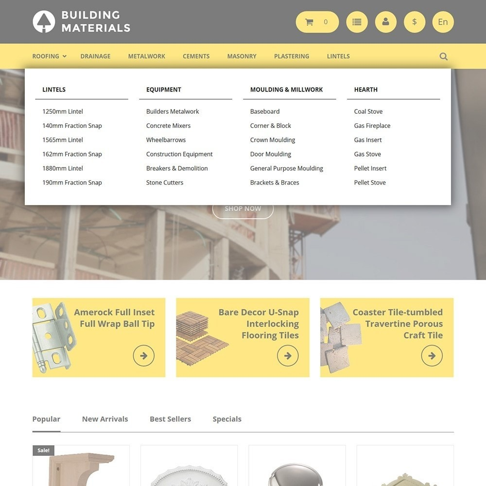 theme - Дом и сад - Building Materials - Building Store - 4