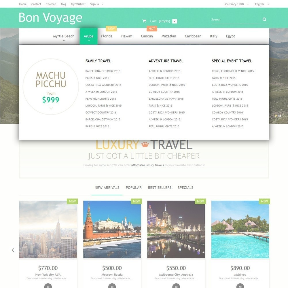 theme - Sports, Activities & Travel - Bon Voyage - Travel Agency - 5