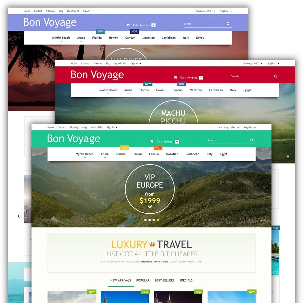 theme - Sport, Loisirs & Voyage - Bon Voyage - Travel Agency - 2