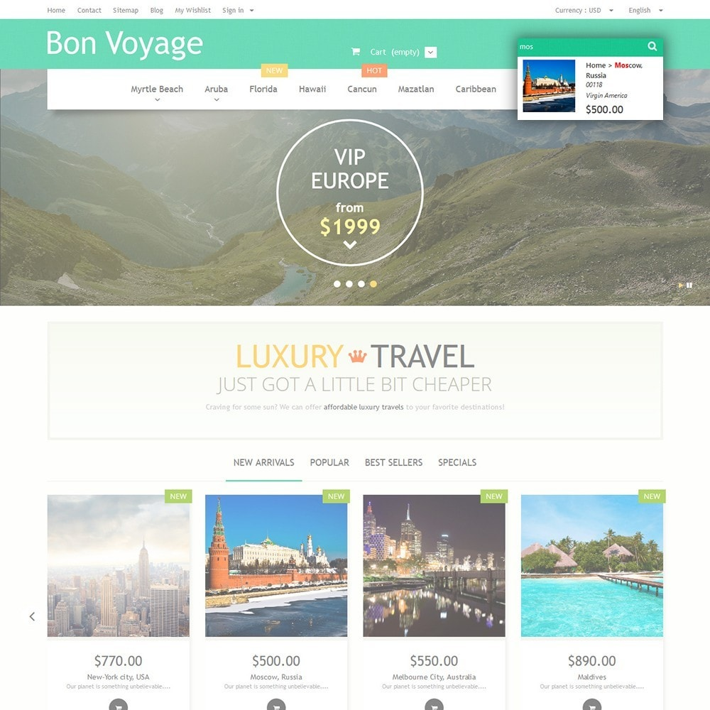 theme - Sport, Loisirs & Voyage - Bon Voyage - Travel Agency - 6