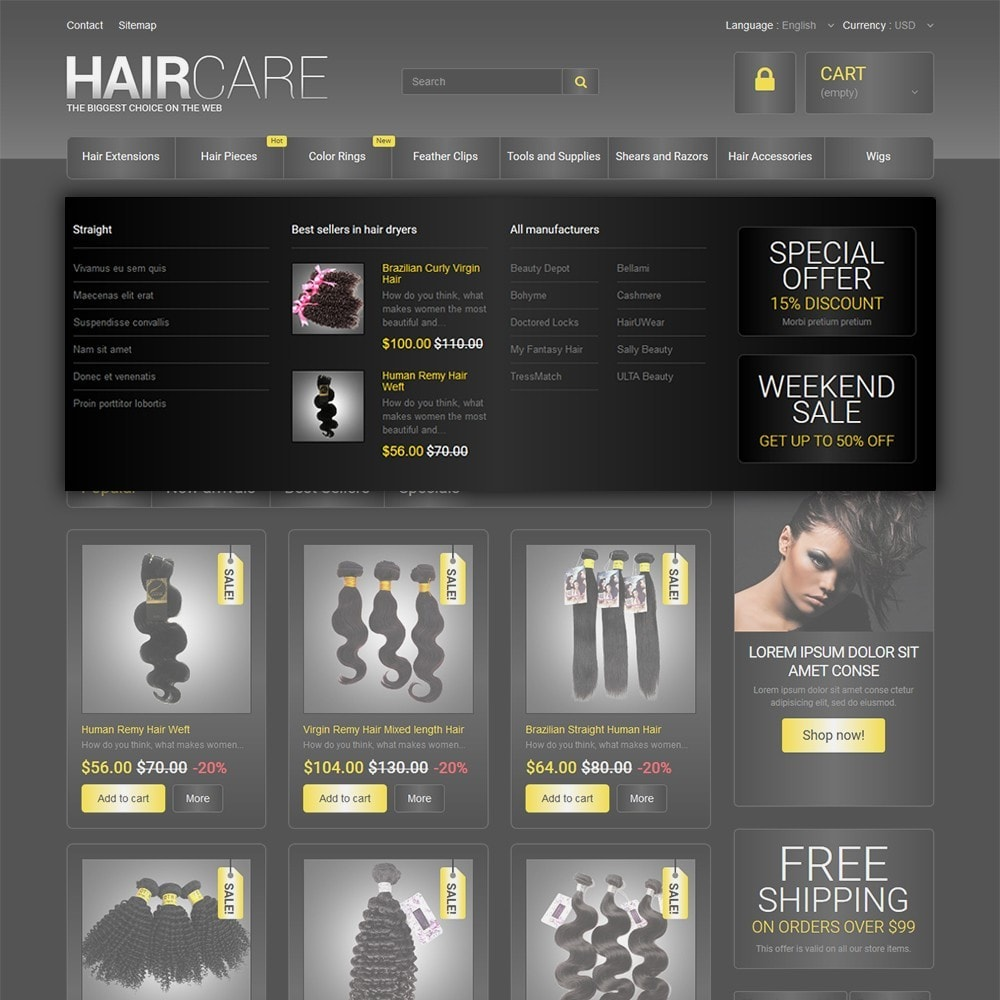 theme - Moda & Obuwie - HairCare - The Biggest Choice On The Web - 5