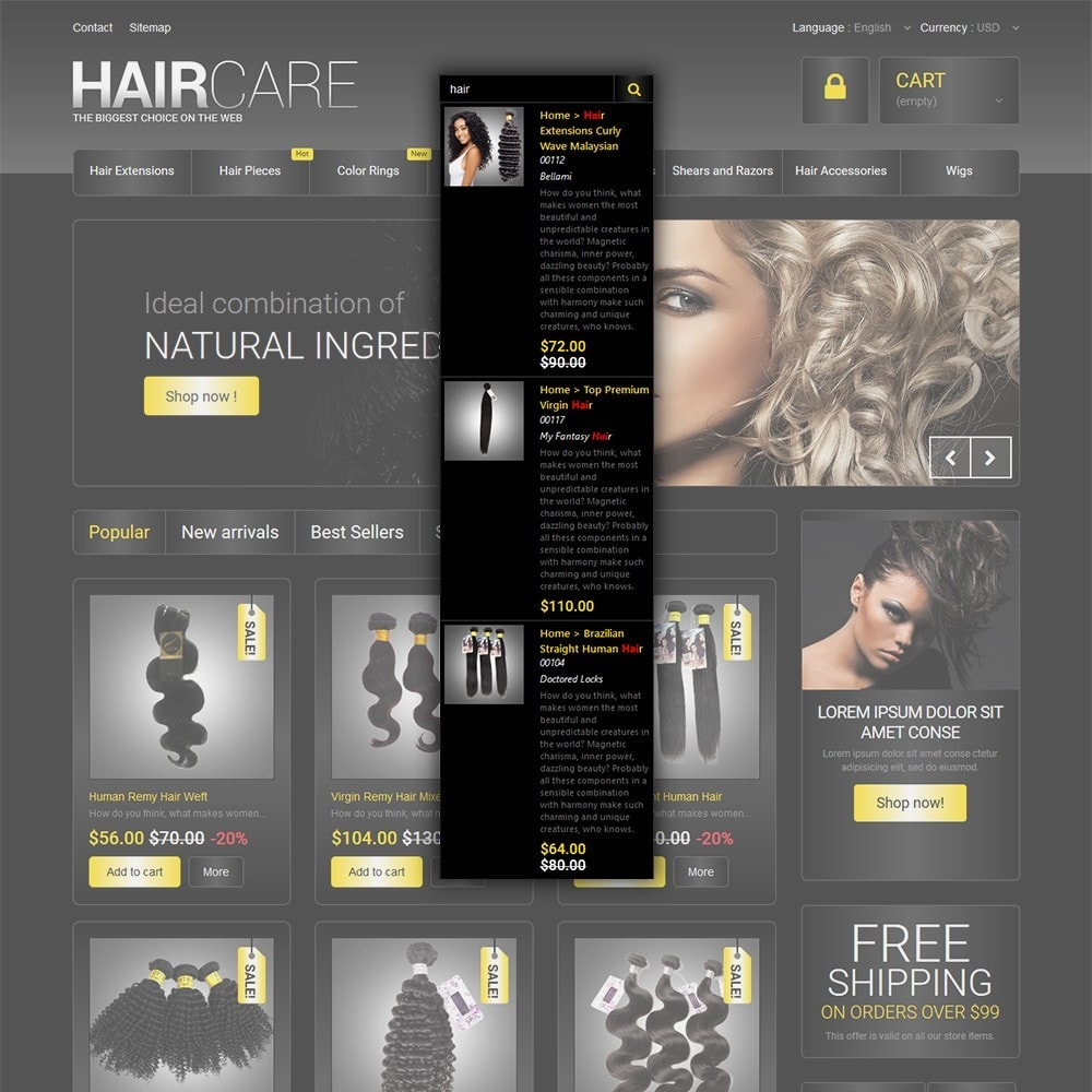 theme - Moda & Obuwie - HairCare - The Biggest Choice On The Web - 6