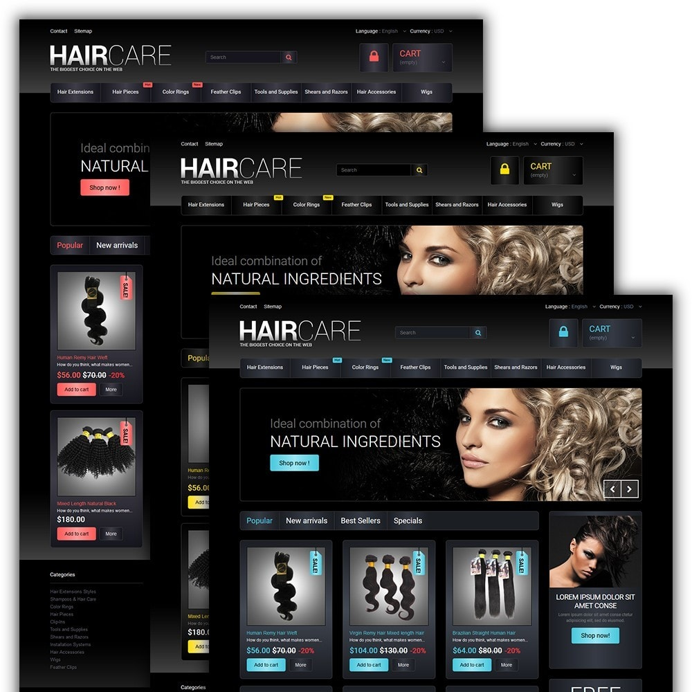 theme - Мода и обувь - HairCare - The Biggest Choice On The Web - 2