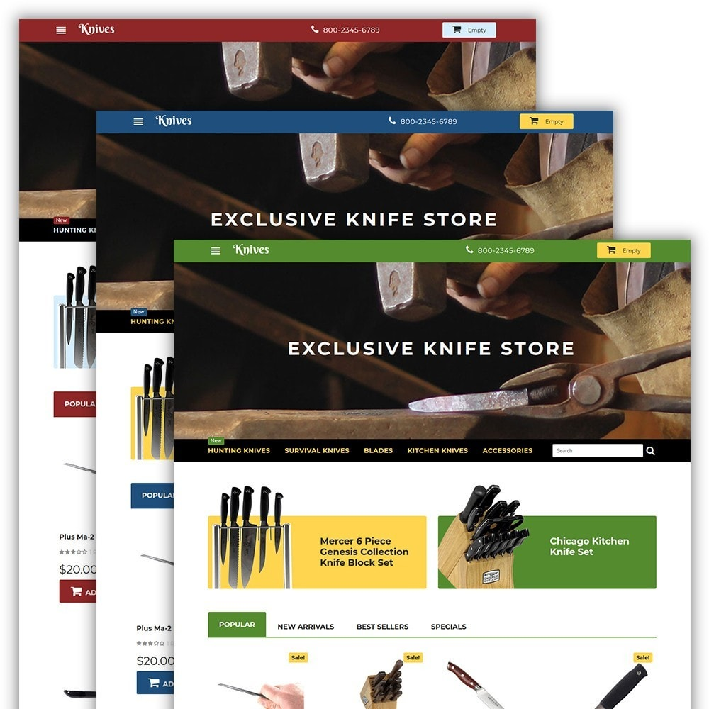 theme - Art & Culture - Knives - Housewares Store - 2