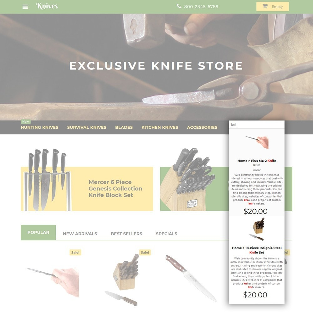 theme - Art & Culture - Knives - Housewares Store - 6