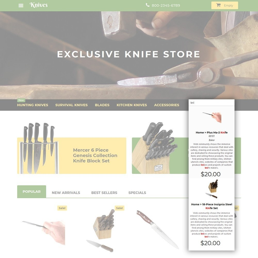 theme - Arte y Cultura - Knives - Housewares Store - 6