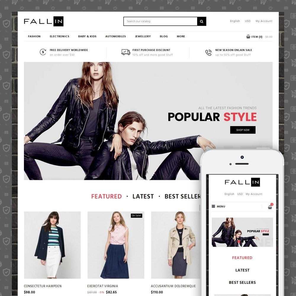 theme - Mode & Schuhe - Fallin Fashion Store - 1