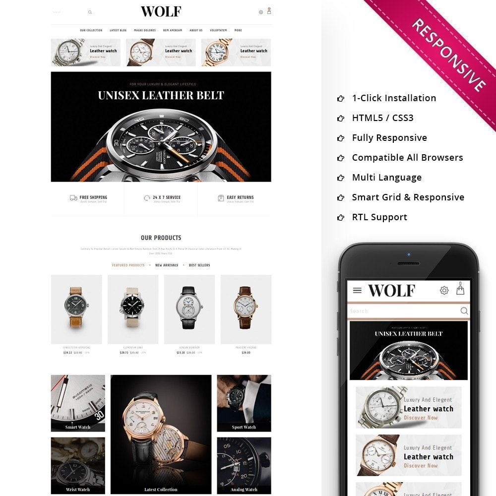 theme - Elettronica & High Tech - Wolf Watch Store - 1