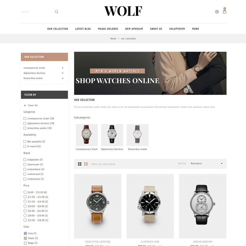theme - Electronique & High Tech - Wolf Watch Store - 4