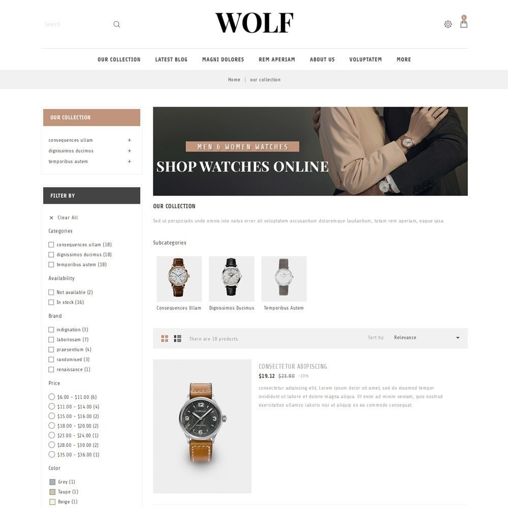 theme - Electronique & High Tech - Wolf Watch Store - 5