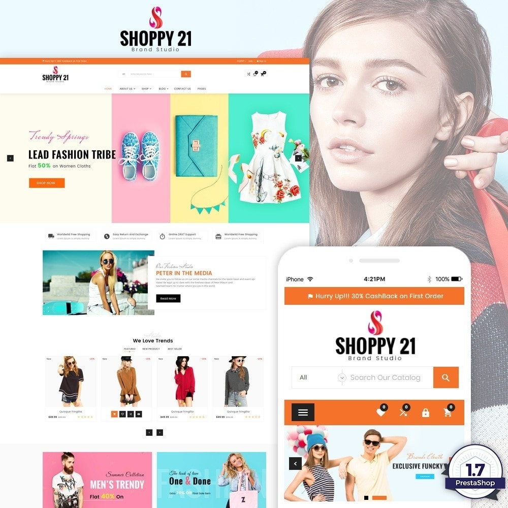 theme - Мода и обувь - Shoppy21 – Fashion Super Big Store - 1