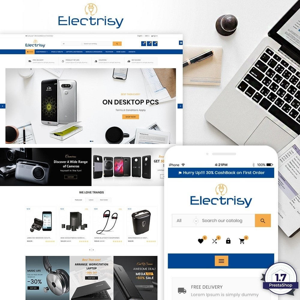 theme - Electrónica e High Tech - Electrisy – Electronic and Big Super Store - 1