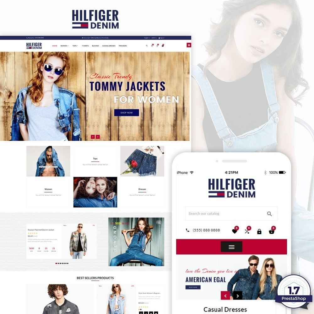 theme - Moda & Obuwie - Hilfiger Denim – Fashion/Cloth/Brand Super Store - 1