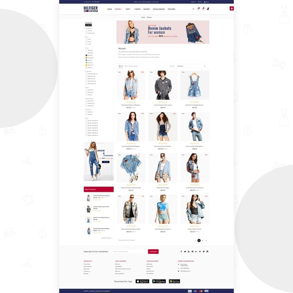 theme - Moda & Obuwie - Hilfiger Denim – Fashion/Cloth/Brand Super Store - 3