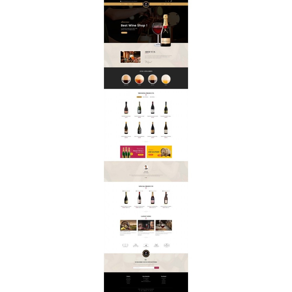 theme - Drink & Tobacco - WineYard Store - 2