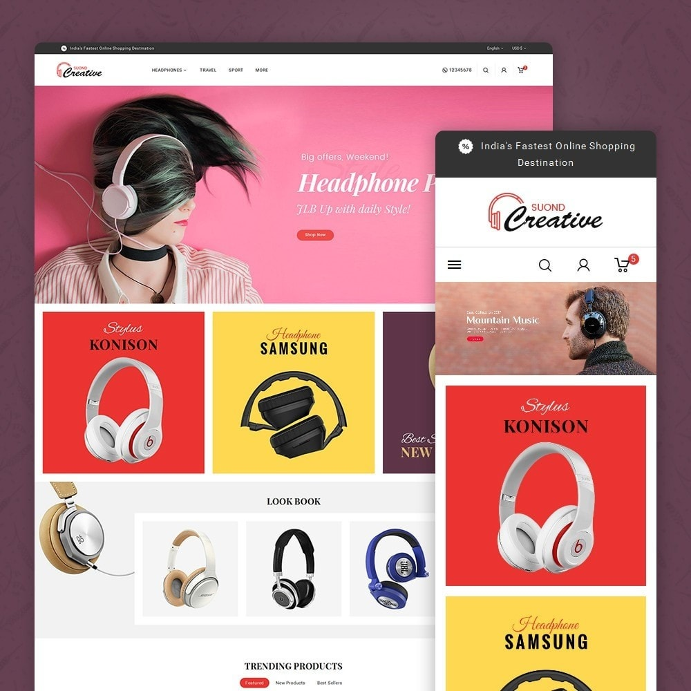 theme - Electronique & High Tech - Headphone & Speakers - 1