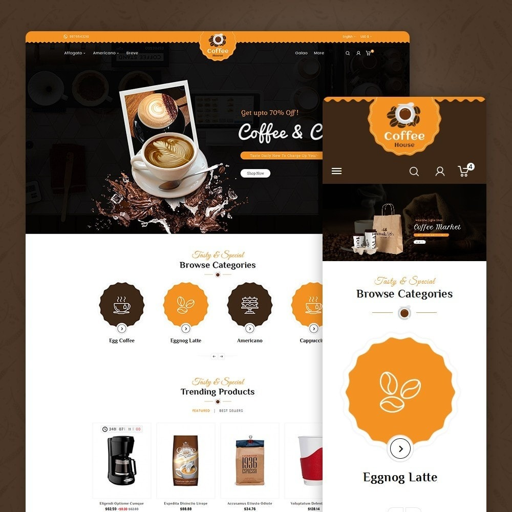 theme - Alimentos & Restaurantes - Coffee House - 1