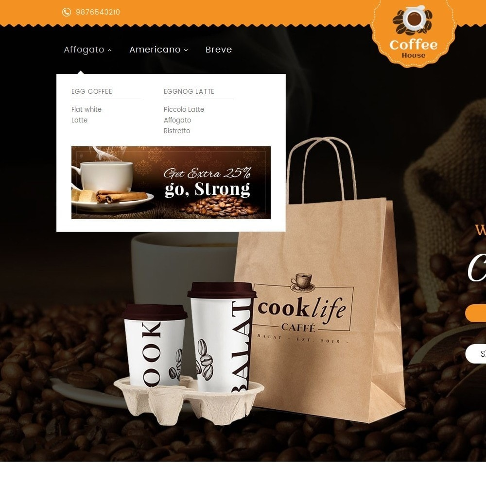 theme - Alimentos & Restaurantes - Coffee House - 8