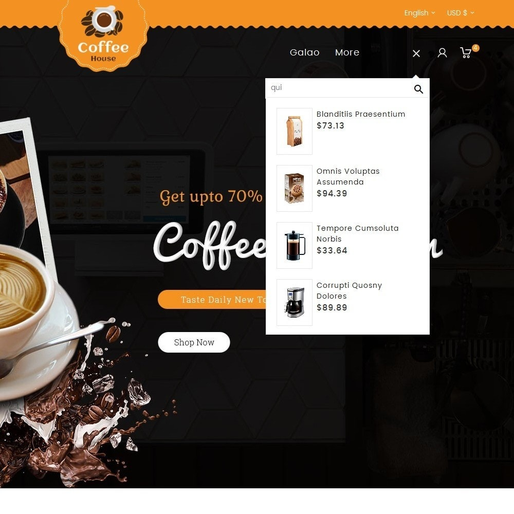 theme - Alimentos & Restaurantes - Coffee House - 9