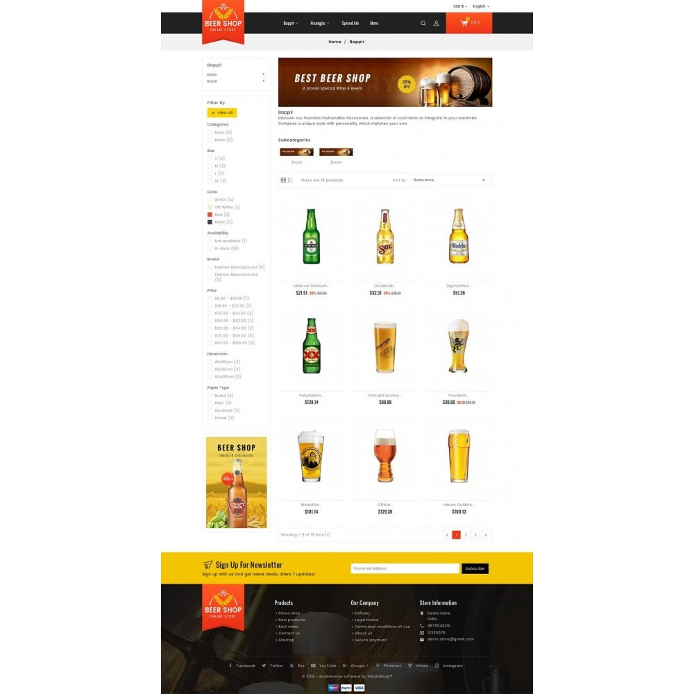 theme - Bebidas & Tabaco - Beer & Winery - 3