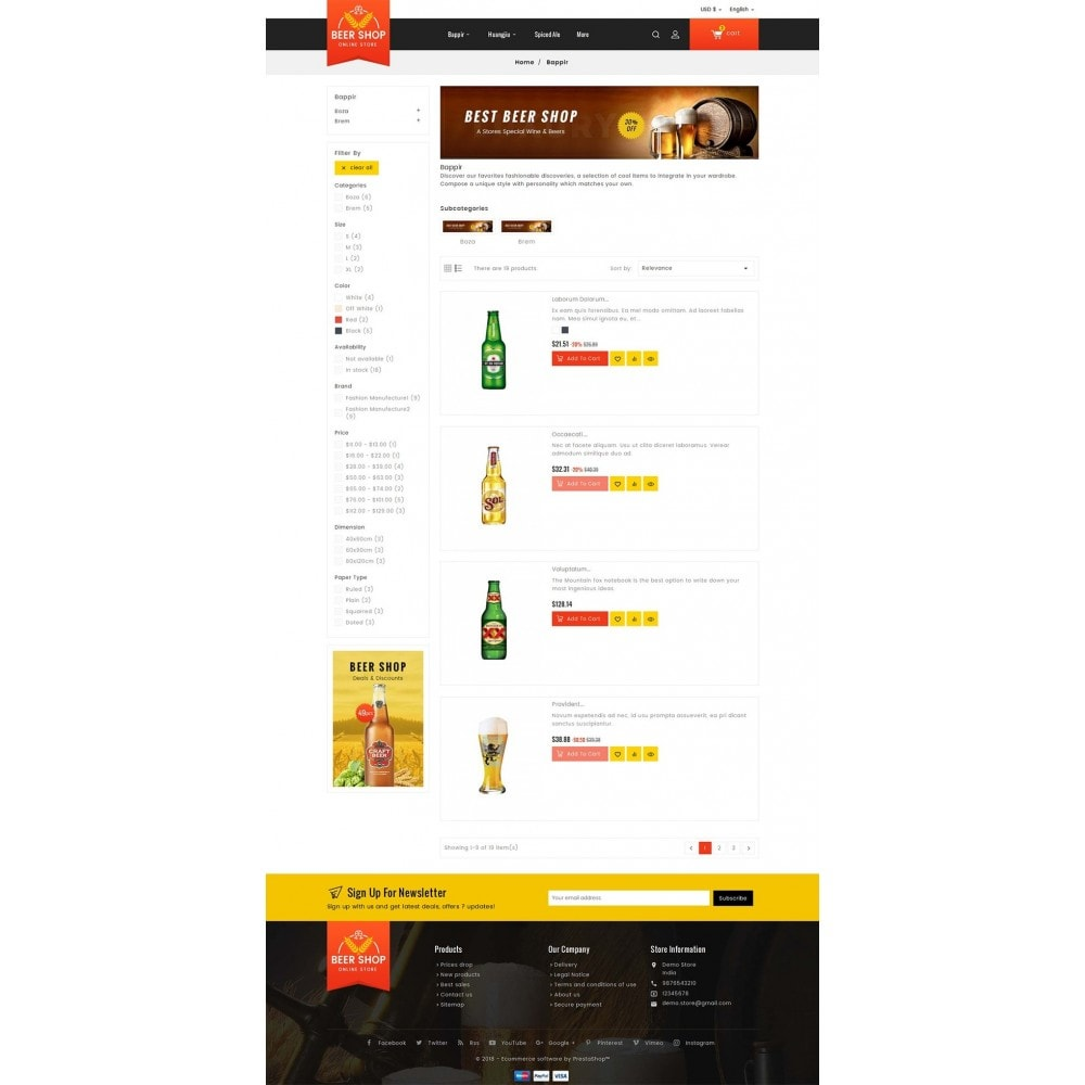 theme - Bebidas & Tabaco - Beer & Winery - 4