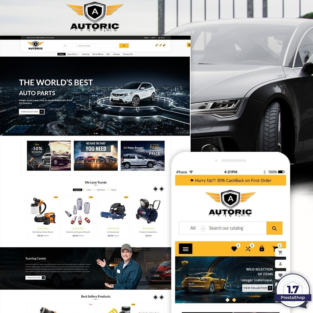 theme - Autos & Motorräder - Autoric – Autopart and Tools Super Store - 1