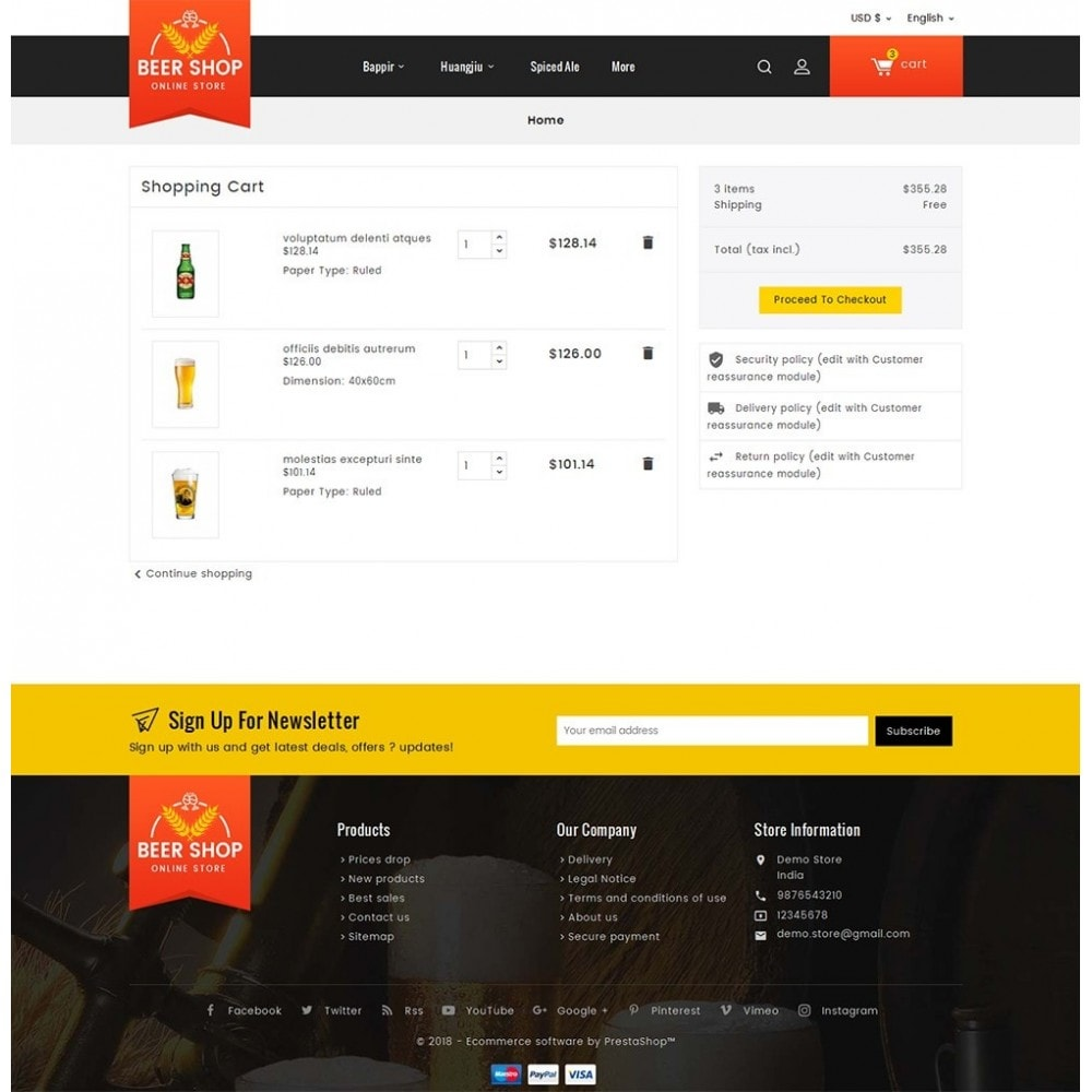 theme - Bebidas & Tabaco - Beer & Winery - 6