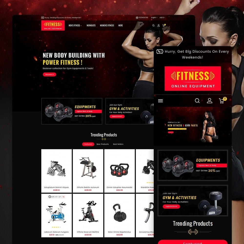 theme - Sport, Loisirs & Voyage - Gym & Fitness - 1