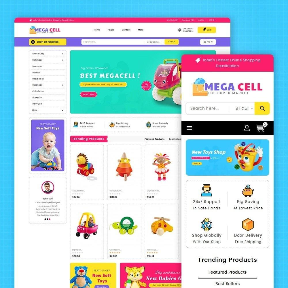 theme - Дети и Игрушки - Mega Cell Kid Toys - 1