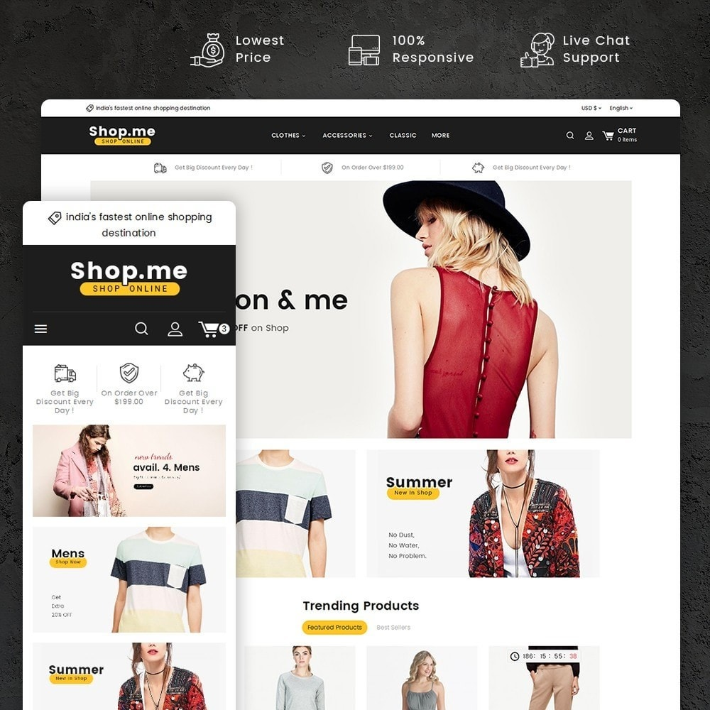 theme - Mode & Schoenen - Shopme Fashion Apparels - 1
