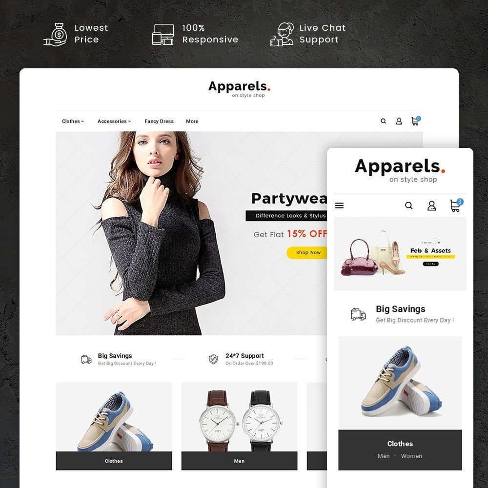theme - Mode & Chaussures - Fashion Apparels - 1