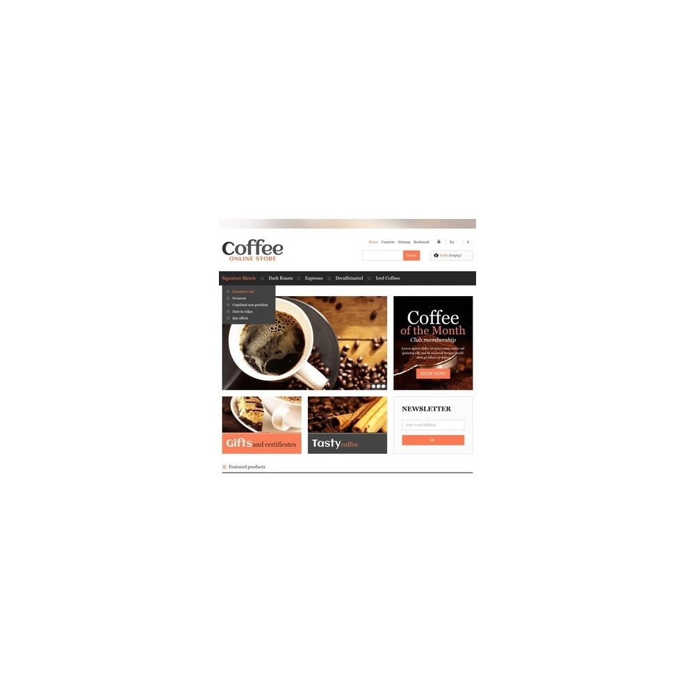 theme - Food & Restaurant - Responsive Coffee Store - 3