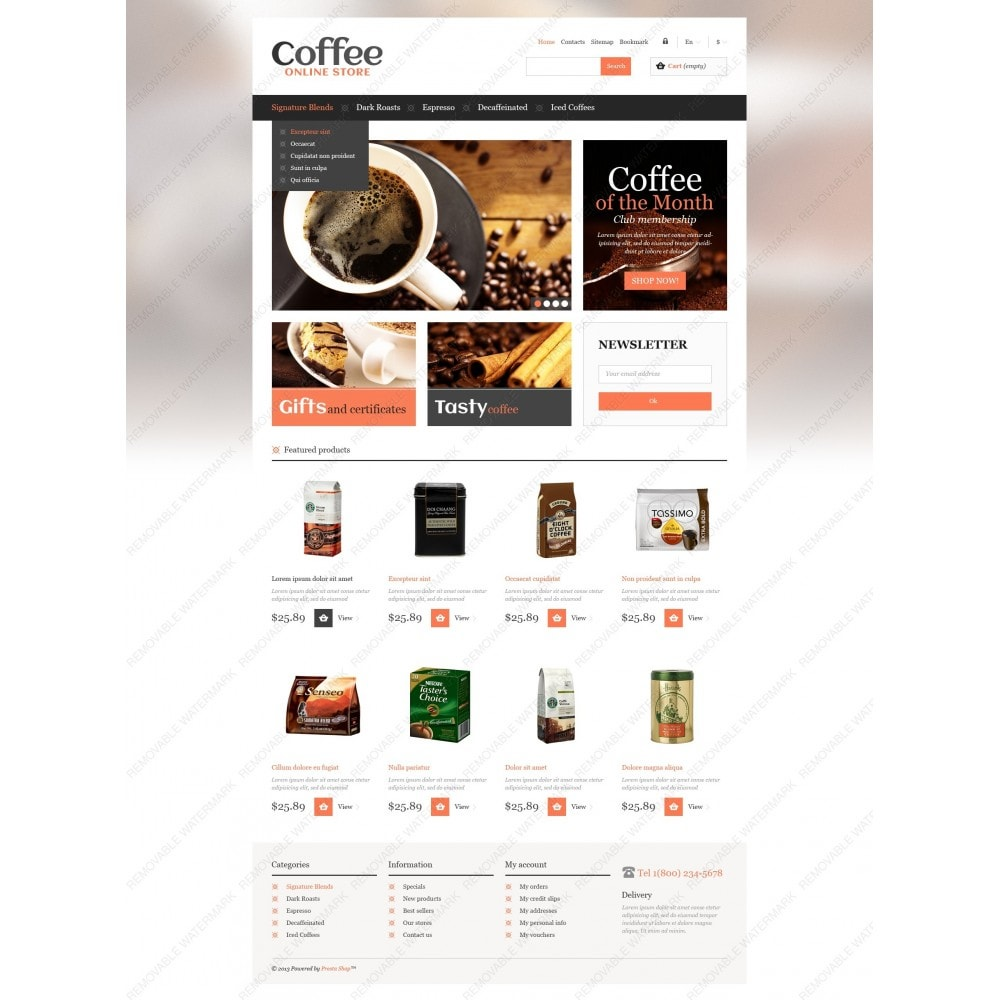 theme - Food & Restaurant - Responsive Coffee Store - 6