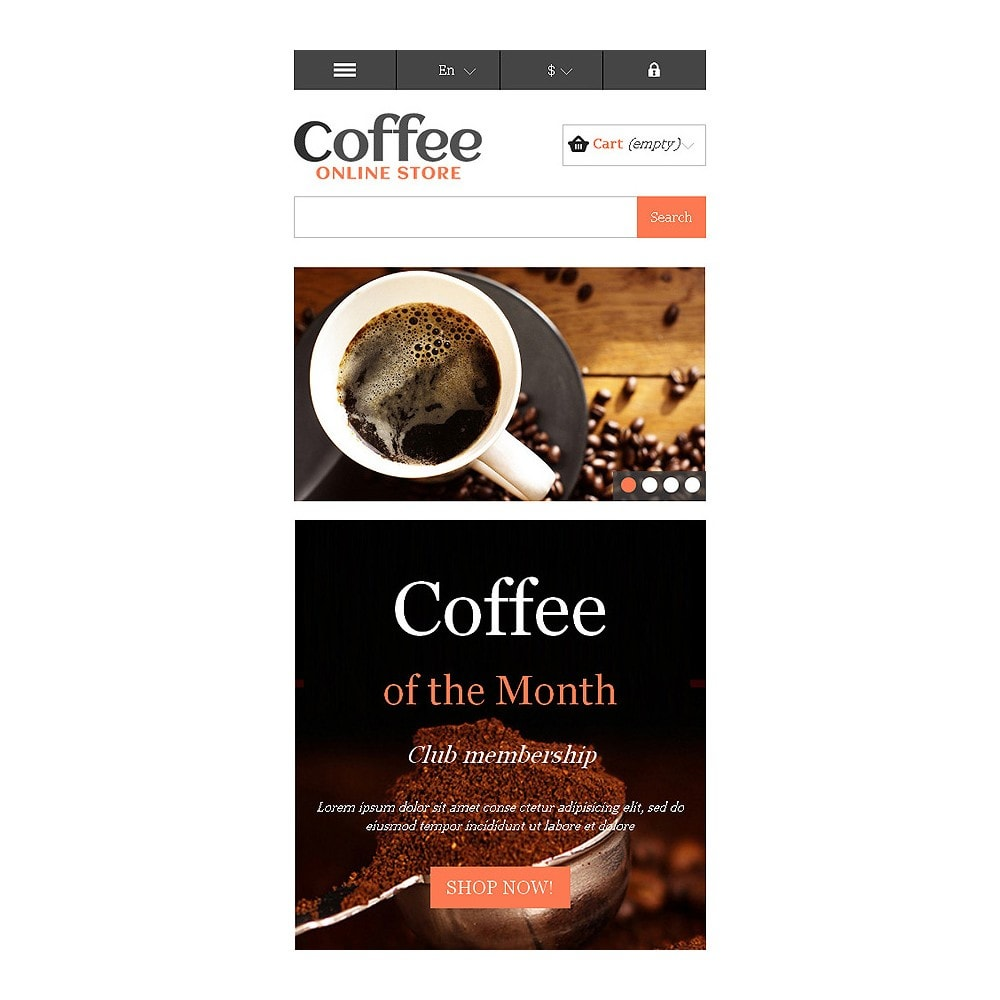 theme - Food & Restaurant - Responsive Coffee Store - 9