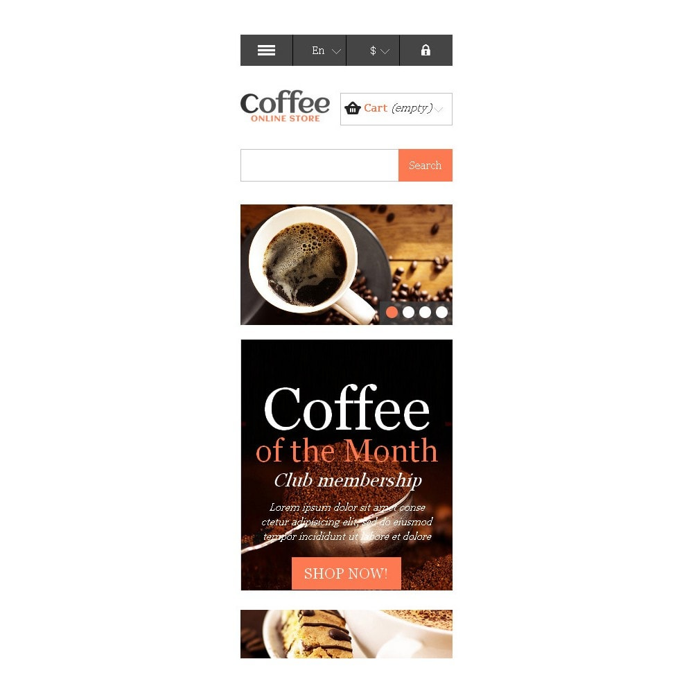 theme - Food & Restaurant - Responsive Coffee Store - 10