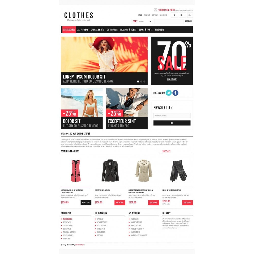 theme - Mode & Schuhe - Responsive Clothing Shop - 2