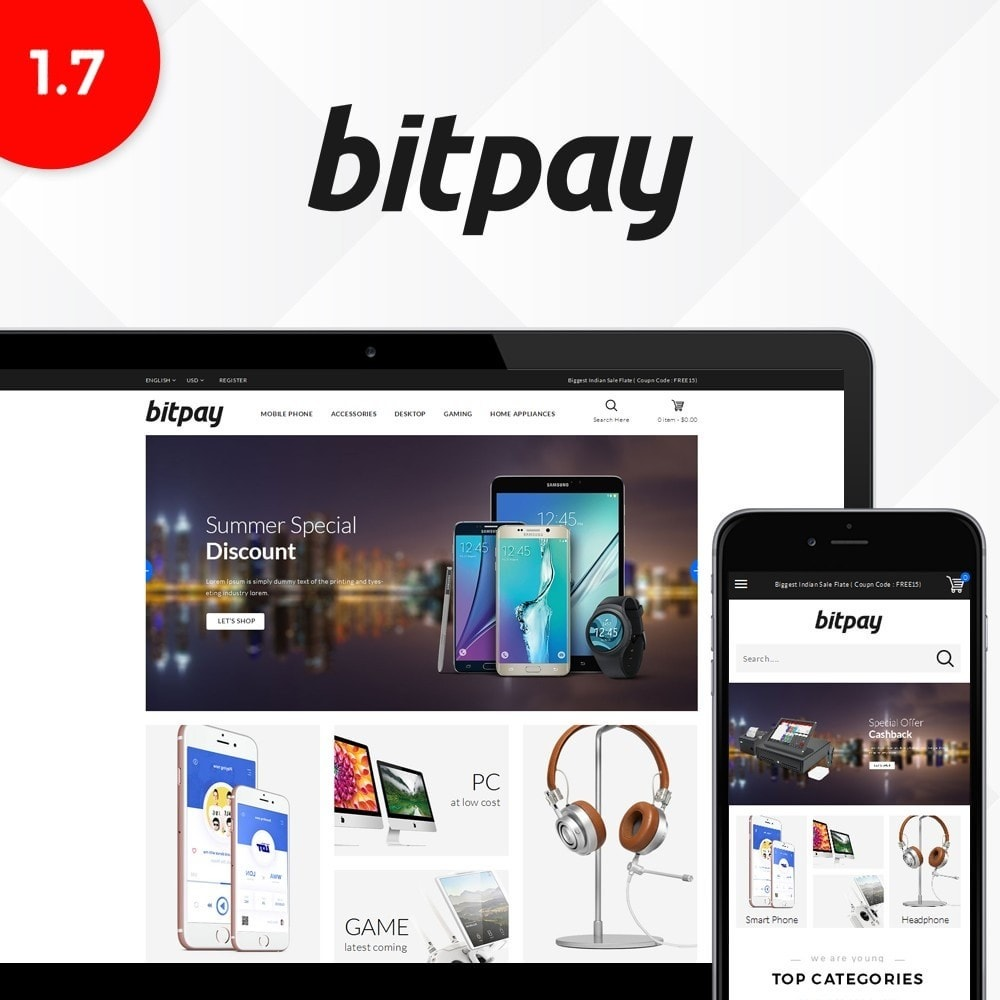 theme - Electrónica e High Tech - Bitpay Electronics Store - 1
