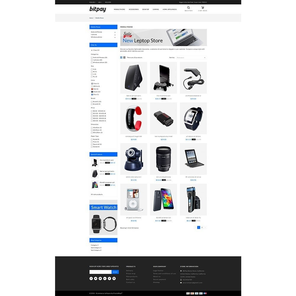 theme - Electrónica e High Tech - Bitpay Electronics Store - 3