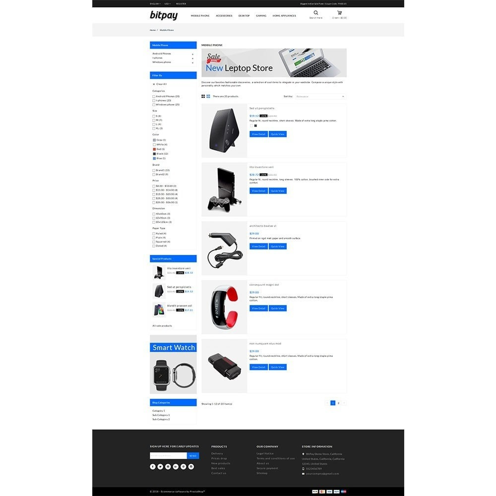 theme - Electrónica e High Tech - Bitpay Electronics Store - 4