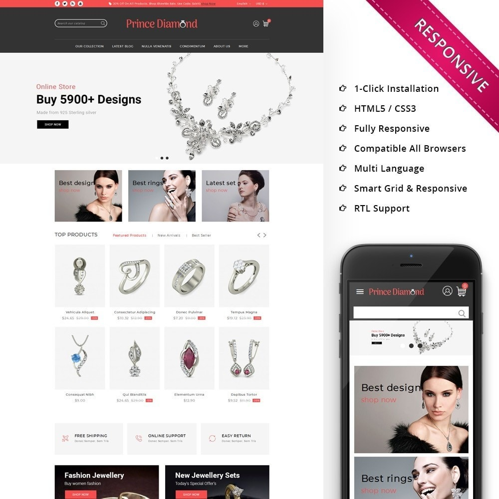 theme - Bijoux & Accessoires - Prince Diamond - The Jewelry Store - 1