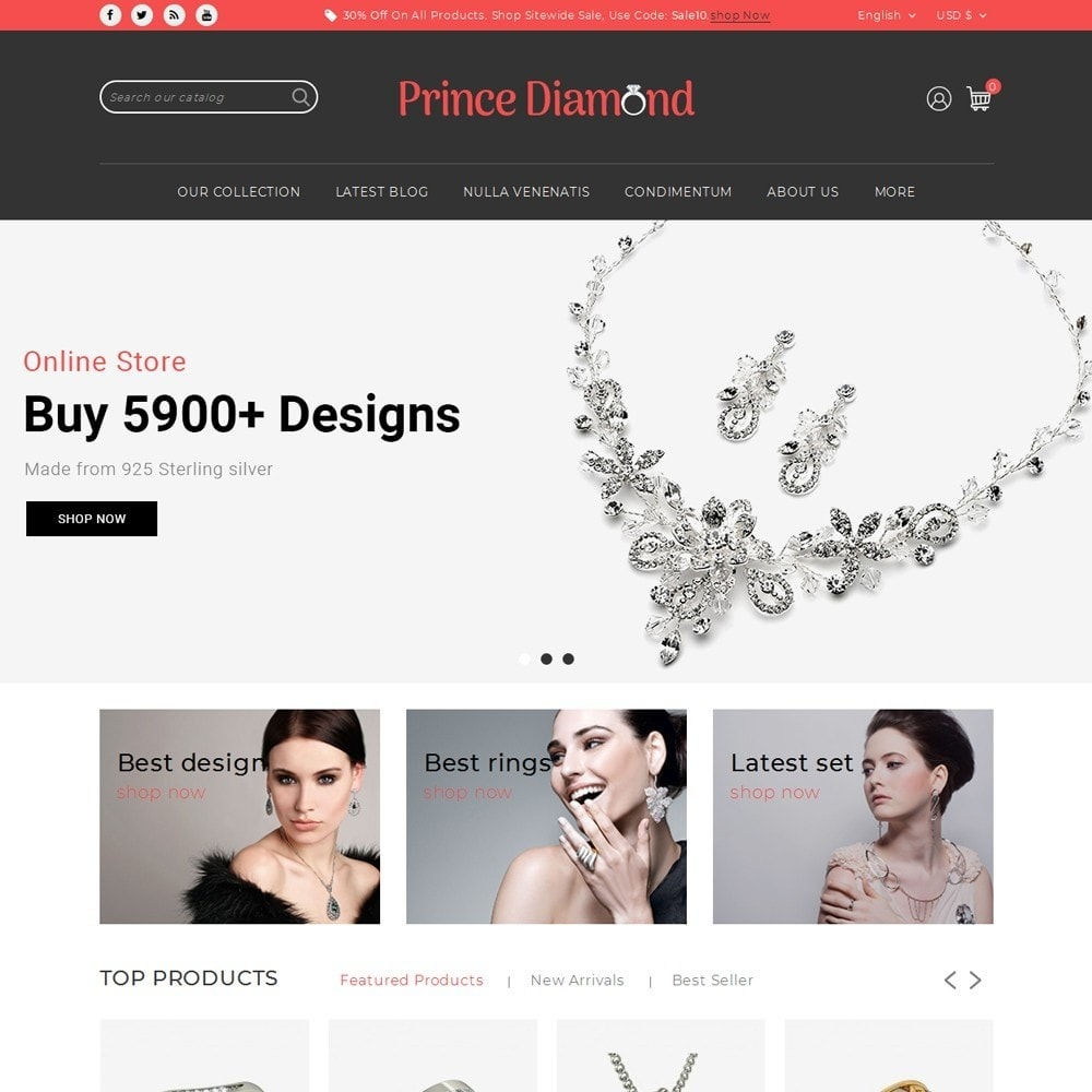 theme - Bijoux & Accessoires - Prince Diamond - The Jewelry Store - 2