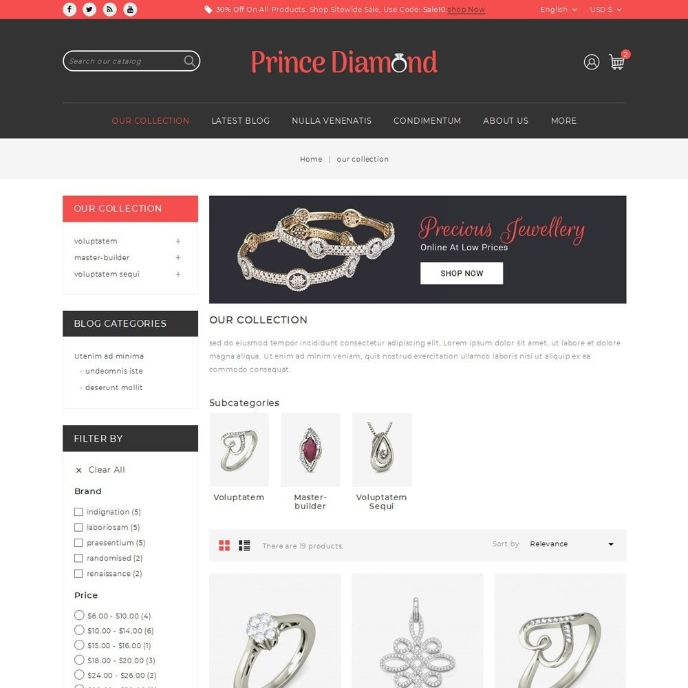 theme - Bijoux & Accessoires - Prince Diamond - The Jewelry Store - 4