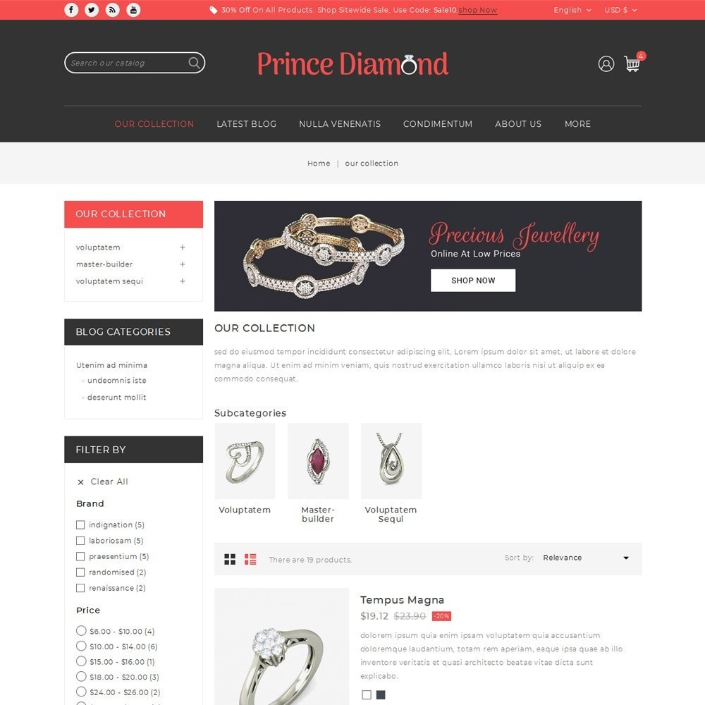 theme - Bijoux & Accessoires - Prince Diamond - The Jewelry Store - 5